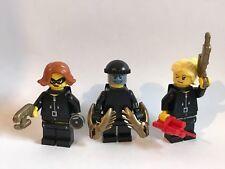 Original de piezas de Lego - 3 fuerzas especiales de la policía Personalizado Weapon Unit 3 Damas