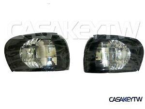 Crystal Black Corner Lights Lamps 1995-2000 E-MARK SUBARU IMPREZA GC8