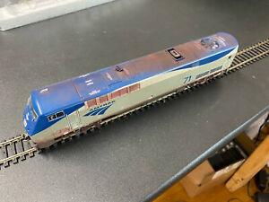 HO Athearn Amtrak P42 Phase V DCC custom #71 weathered