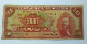 Money Bill, 5000 Cruzeiros Cinco Mil Cruzeiros