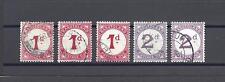 BASUTOLAND 1933-52 SG D1, D1A, D1B, D2, D2A USED Cat £137