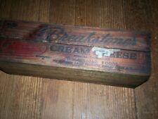 Vintage Breakstone Dark Wooden Cheese Box Cut Down Middle Machine Shop Find #14
