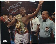 Riddick Bowe Signed 11X14 Boxing Photo JSA