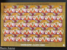 DENMARK CHRISTMAS STAMP Seals caritas 1988 MNH UNFOLDED
