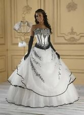 New black and white Wedding dress Bridal custom size 4-6-8-10-12-14-16-18-20+