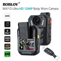 "BOBLOV WA7-D HD 1296P 64GB 2.0"" Body Worn Camera Recorder Night Vision Portable"