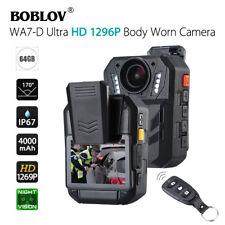 """BOBLOV WA7-D HD 1296P 64GB 2.0"""" Body Worn Camera Recorder Night Vision Portable"""