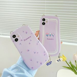 Cute Flower Cover For iPhone 12Pro Max 11 7/8+ XR X Shockproof Ruuber Phone Case