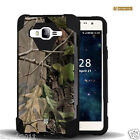 Tree Camo Dual Layer Case w/Stand Skin Cover for Samsung Galaxy On5 G550