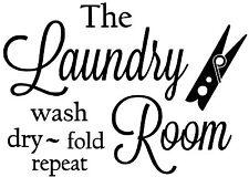 Laundry Room Wall Art vinyl Decal / Sticker