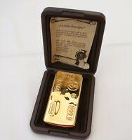 Brother-Lite Gas-Feuerzeug im Goldbarren Design, neuwertig aus Sammlung - in OVP