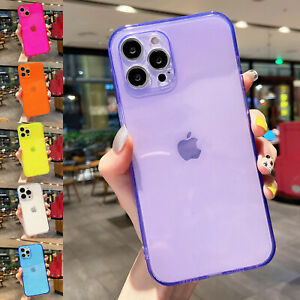 Clear Case For iPhone 13 Pro Max 12 11 XS XR 7 8 Shockproof Soft TPU Back Cover