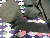 ancienne  mercerie  gros grain vert 3mx5cm pour jupes ou consolider travail