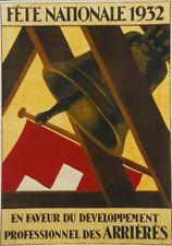 Original Plakat - Fête Nationale 1932