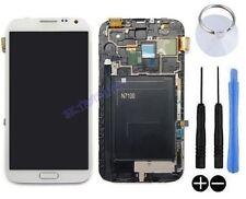 ECRAN LCD + VITRE TACTILE SUR CHASSIS POUR SAMSUNG GALAXY NOTE 2 II N7100 BLANC