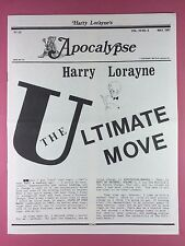 Harry Lorayne's APOCALYPSE - Magicians Newsletter  Vol.10 / No.5 - 1987 - Magic
