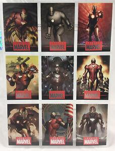 Legends of Marvel Iron Man 9 Card Set #77/1939 Rittenhouse Archives MCU 2010