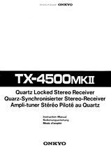 Onkyo TX-4500Mk2 Tuner Owners Manual
