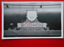 PHOTO  NAMEPLATE FRO SR WEST COUNTRY LOCO NO 34016 BODMIN