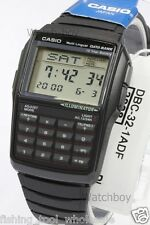 DBC-32-1A Black Casio E Data Bank Plastic Watch DBC32 Calculator Telememo Japan