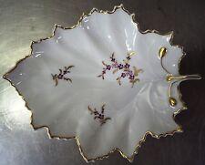 Ältere Höchst Schale Ahorn Blattschale handgemalte Porzellan Blatt Schale