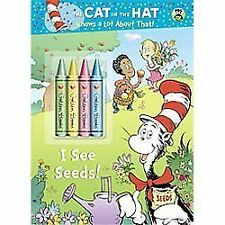 I See Seeds! (dr. Seuss/cat In The Hat) (3-D Coloring Book With Stickers): By...