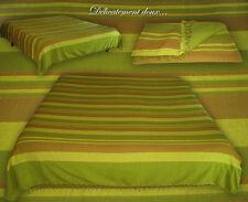 """Grand COUVRE-LIT double """"Kérala"""", 100% coton, coloris vert - KER9"""