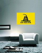 "Gadsden Don'T Tread On Me Flag Wall Decal Large Vinyl Sticker 25"" x 16"""