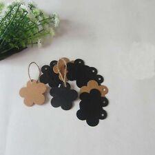 50x brown Kraft paper tags scrapbooking  DIY craft wedding party favours -flower