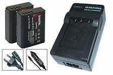 2 x Akku + Ladegerät für Canon EOS 1100D, 1300D, 2000D, 4000D - LP-E10