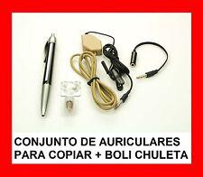 CONJUNTO DE AURICULARES PARA COPIAR+ BOLI CHULETA - PARA LOS EXÁMENES !