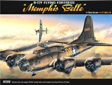 Academy 1/72 B-17F Flying Fortress Memphis Belle Plastic Model FA198 #12495