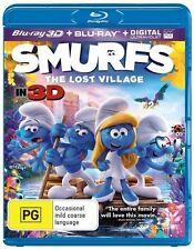 Smurfs: The Lost Village (3D/UV) - Kelly Asbury NEW B Region Blu Ray