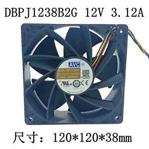 AVC DBPJ1238B2G 12V 3.12A 12038 12CM 4-wire PWM Ant Wingbit E9 Cooling Fan