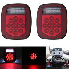 Pair LED Tail Light Brake Reverse Turn Signal For Jeep Wrangler TJ CJ 76-06 Lamp