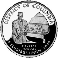 2009 S SILVER GEM PROOF DC DISTRICT OF COLUMBIA TERRITORY QUARTER 90% SILVER