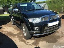 To Fit 10 - 15 Mitsubishi L200 Bumper Spoiler Chin Nudge Bar Polished 4x4