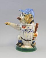 9959311 Porzellan Bierkrug Sammlerkrug Figurenkrug Baseball Bulldogge H31cm