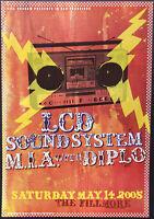 LCD Soundsystem Concert Poster 2005 F-690 Fillmore