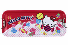 2 layers ~ New Sanrio Hello Kitty Pencil Box - Tin Case # A ( Candy )