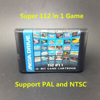 Top 112 in 1 For Sega Megadrive Genesis Game Cartridge with Contra Gunstar Hero