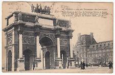 CARTE POSTALE PARIS ARC DE TRIOMPHE DU CARROUSEL