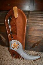 "Home Studio Laredo Cowboy Boot Serving Tray Platter 17""x10"""