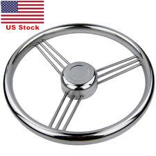 Free Shipping 9 Spoke Stainless Steel Marine Boat Steering Wheel 13-1/2''