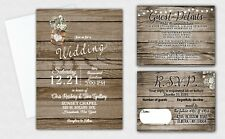 Wedding Invitations Invites and RSVP Cards COMPLETE SET of 100