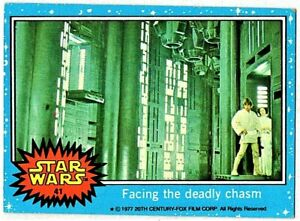 1977 TOPPS STAR WARS SERIES 1 BLUE #41