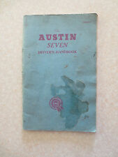 Original early 1960s Austin Seven Mini owner's manual