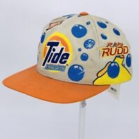 Vintage 90s Tide Racing Team Ricky Rudd NASCAR Snapback Hat Cap All Over NWT