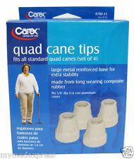Carex Quad Cane Tips set of 4 Replacements 5/8inch 023601312174DT