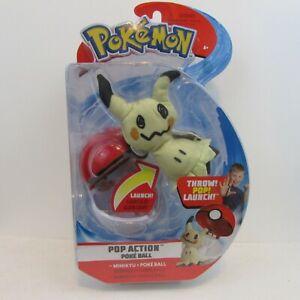 Pokemon Pop Action Poke Ball Mimikyu & Poke Ball Throw Poke Ball Plush New